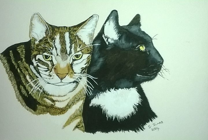 2 cats - paintings 4 u