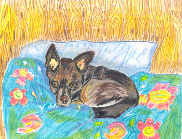 Brown Chihuahua - Margie Shields McKee