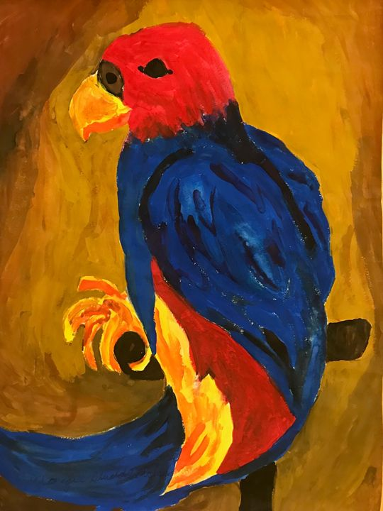 Parrot in Watercolor - Margie Shields McKee