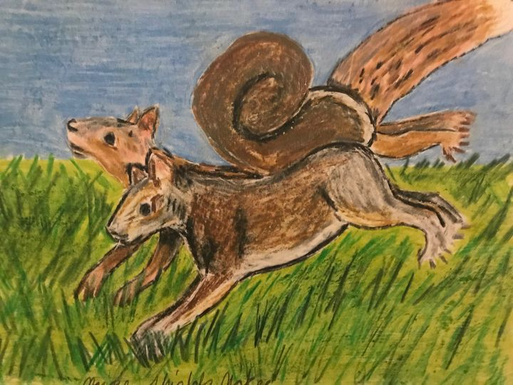 Scampering Squirrels - Margie Shields McKee