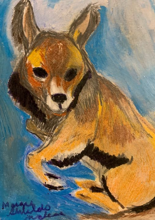 Pomeranian With Butterfly Ears - Margie Shields McKee