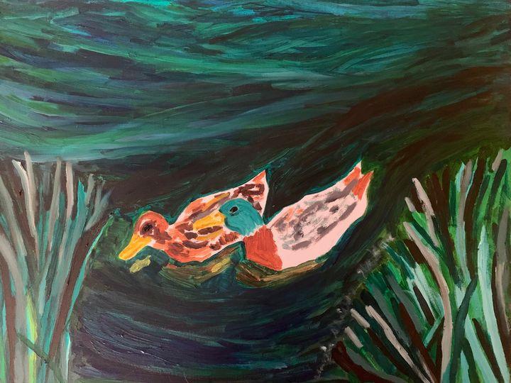 Ducks In Oil - Margie Shields McKee