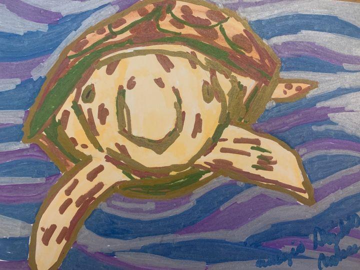 Sea turtle Two - Margie Shields McKee