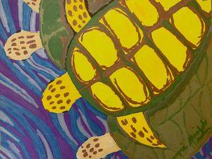 Sea Turtles Three-Swimming Turtles