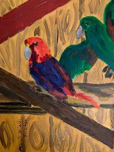 Eclectus Parrots in Oil