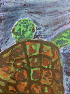 Sea Turtle in Watercolor