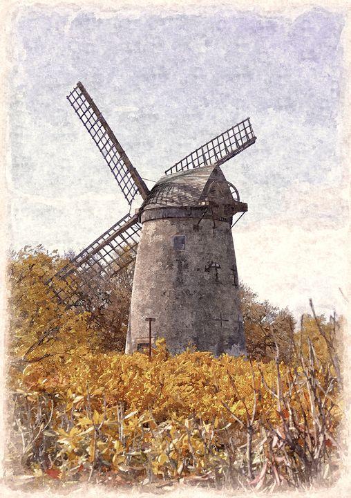 Bidston Windmill in Oils - David Hughes
