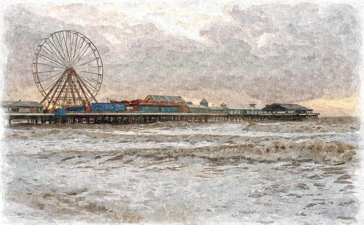 Central Pier Blackpool in Oils - David Hughes