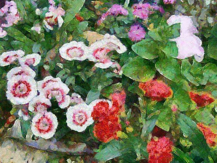 colorful flower - poorbike'art