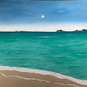 Original sea/beach painting/art