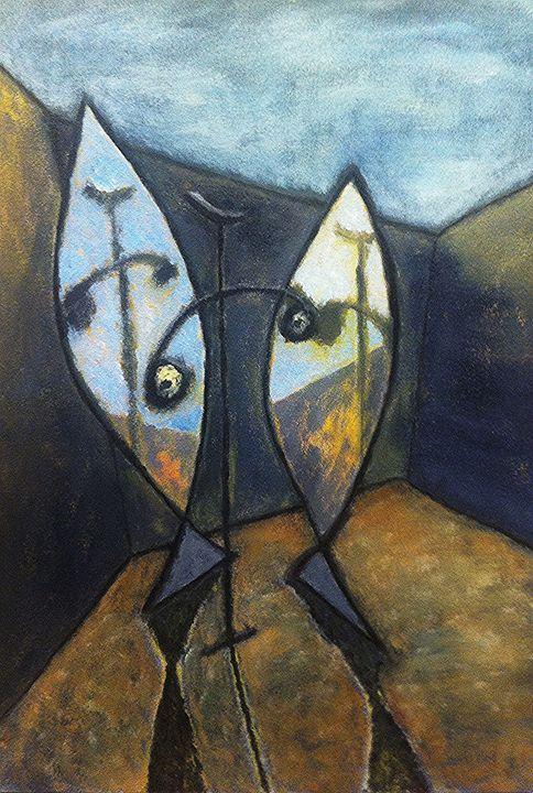 Figura con Specchi - Andrea Rugarli