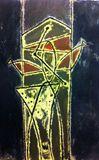 30''x46'', mixed media on canvas