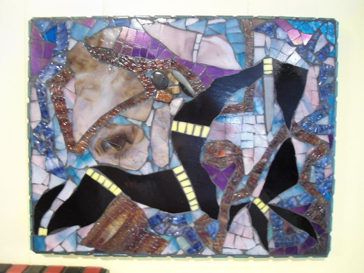 """""""Don't Smother Me"""" Stained Glass Abs - Robbis Cracked Up Mosaics"""