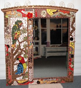 """Seeing Myself In Paradise""  Mosaic - Robbis Cracked Up Mosaics"