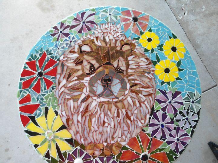 Custom  Made Mosaic Pet Portraits - Robbis Cracked Up Mosaics