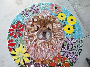 Custom  Made Mosaic Pet Portraits - Robbis Cracked Up Mosaics
