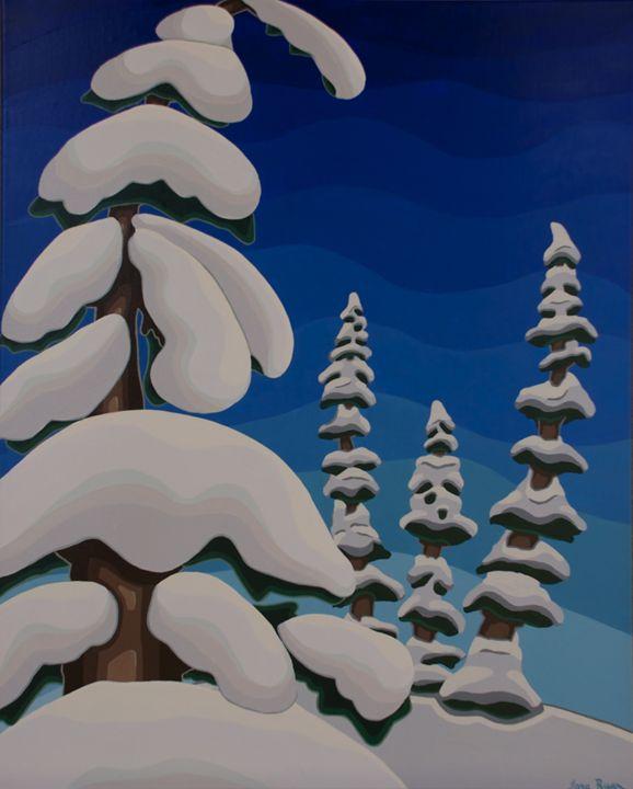 Snowy Trees - TarAcrylics