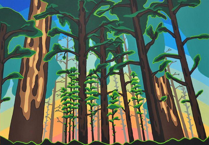Through the Trees - TarAcrylics