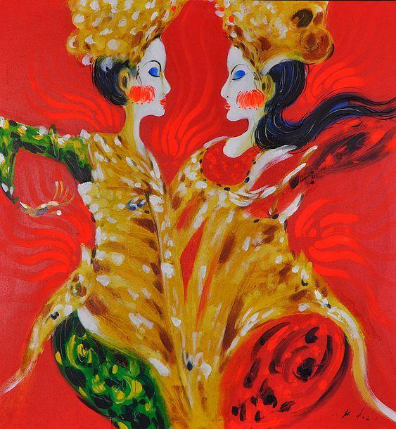 legong Balinese dance - Spiritual Painting