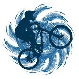 Circuit bicyclist on a background - Dobrydnev