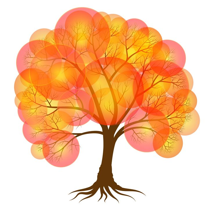 Abstract autumn  tree - Dobrydnev
