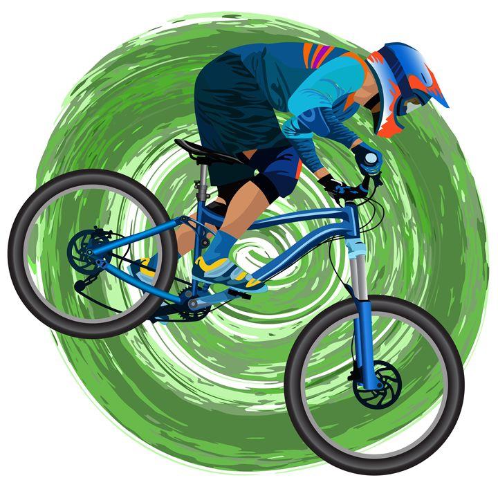 An image of a cyclist on a mountain - Dobrydnev