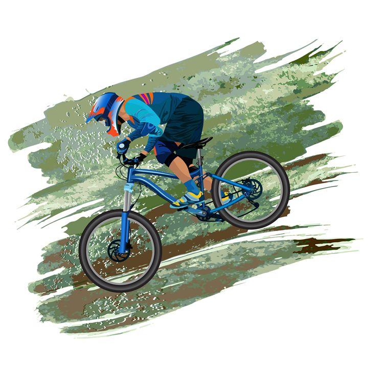 An image of a cyclist - Dobrydnev