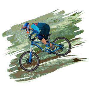 An image of a cyclist - Dobrydnev