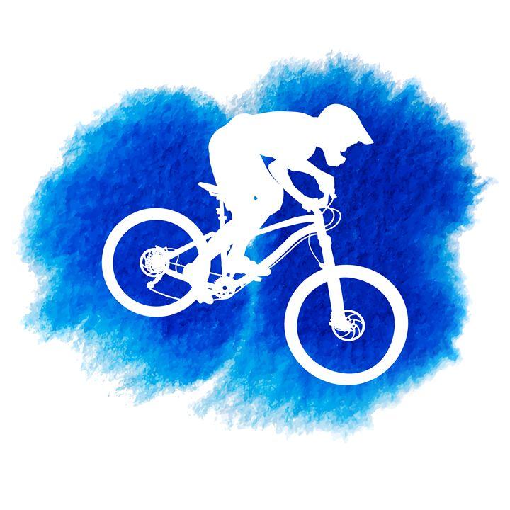 Silhouette of a mountain cyclist - Dobrydnev