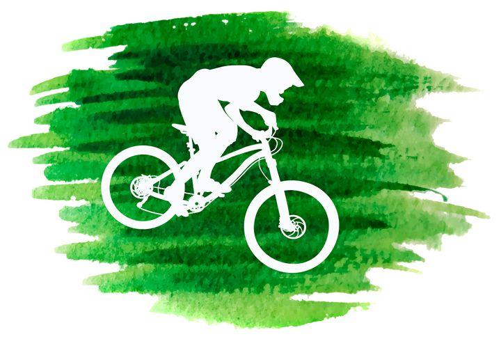 Silhouette of a mountain biker - Dobrydnev