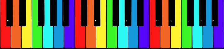 Rainbow piano keys - Dobrydnev