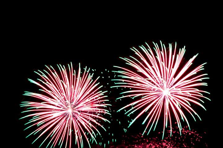 Festive beautiful fireworks in the s - Dobrydnev