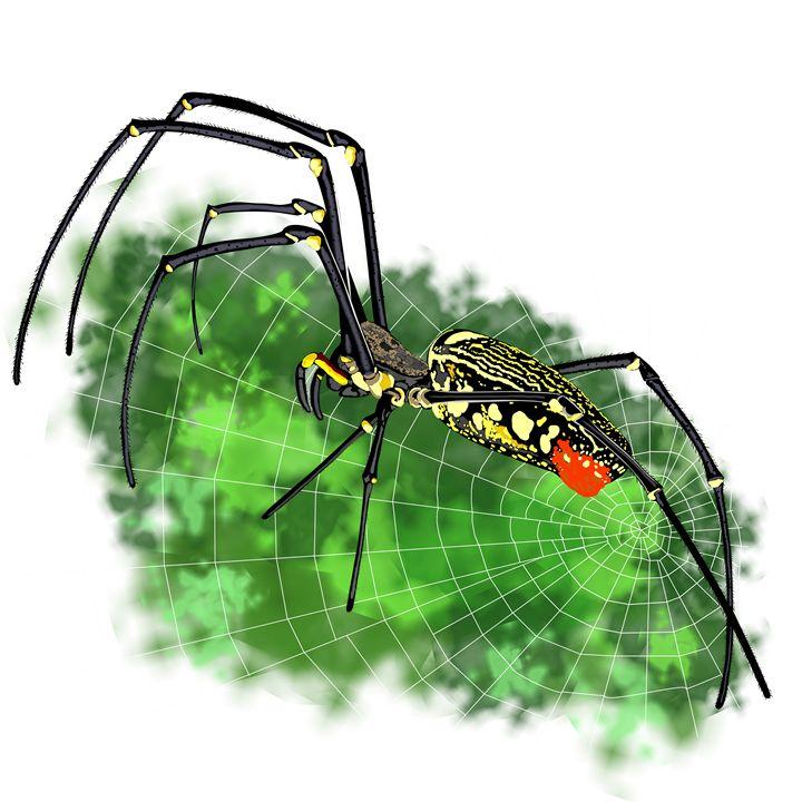 Black with yellow spots tropical spi - Dobrydnev
