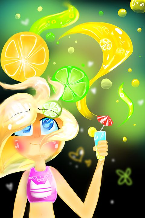 Lemon Lime Summer Girl - Galaxspirit