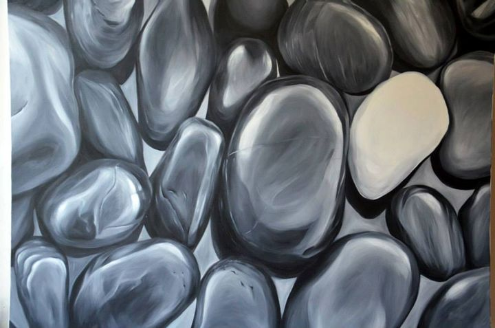 Black and white stones - Art Pavlina Spasova