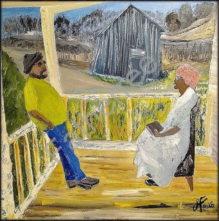 The Conversation - Fatherree Original Art