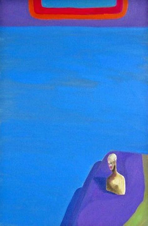 Blue composition - Moma Bjekovic