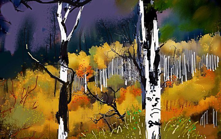 Aspen Glow - Stetson Creek Gallery