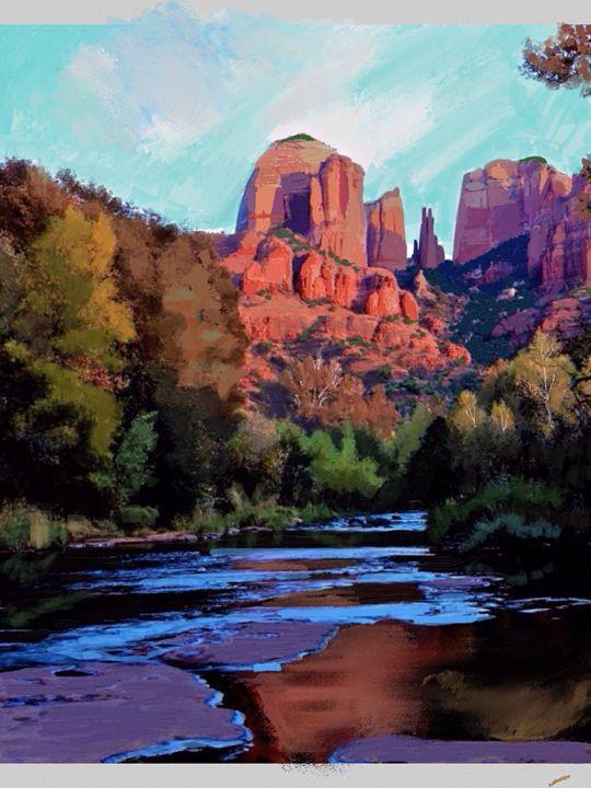 Sedona at Sunset - Stetson Creek Gallery