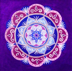 Purple Taste of Plums Mandala