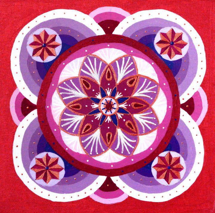 Summer Wine and Cherry pie Mandala - Mandala Art