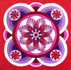 Summer Wine and Cherry pie Mandala