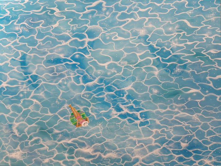 Swimming pool mystery - Artist Unknown