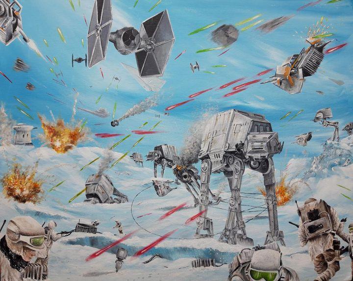 Star Wars - Battle of Hoth - Artist Unknown