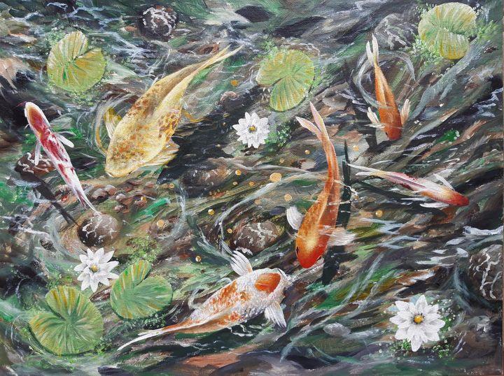 Koi fish - Artist Unknown