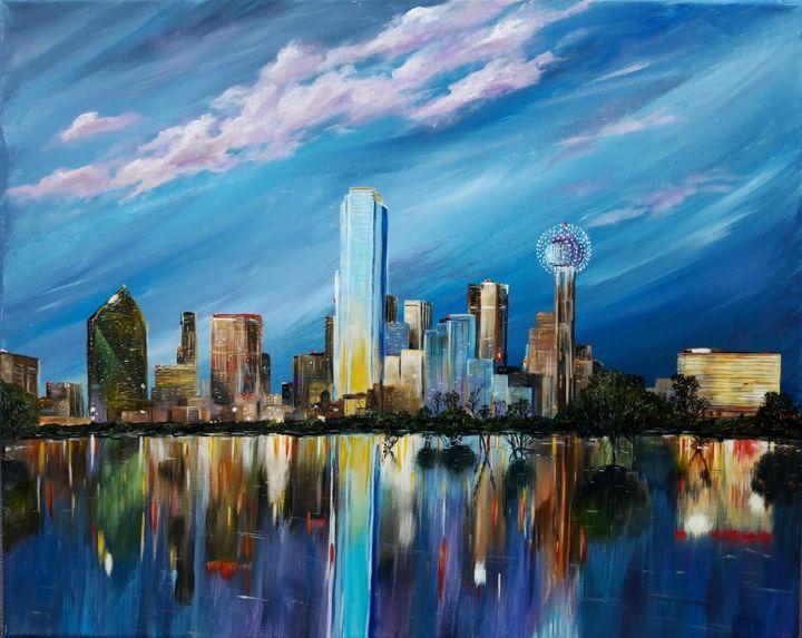 Dallas skyline - Artist Unknown