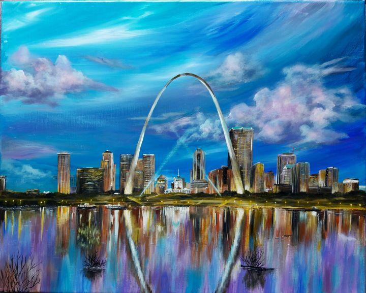 Saint Louis skyline - Artist Unknown