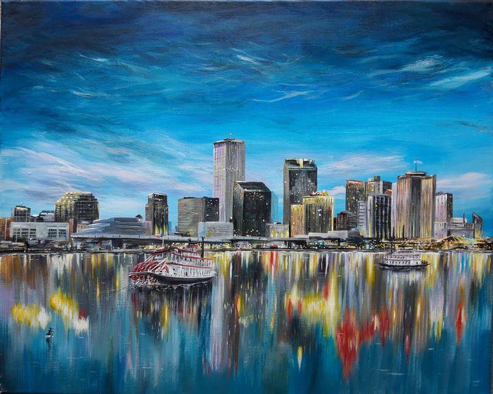 New Orleans skyline - Artist Unknown