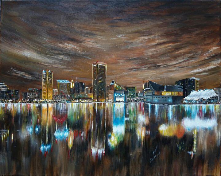 Baltimore skyline - Artist Unknown