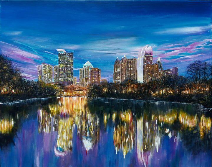 Atlanta skyline - Artist Unknown